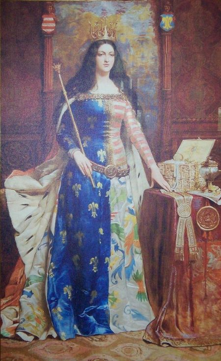 Królowa Jadwiga w pełnym majestacie.