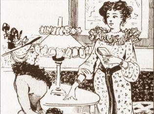 """XIX wieczne damy... (Fotografia z ówczesnej prasy zamieszczona w książce """"Intymne życie niegdysiejszej Warszawy"""")"""