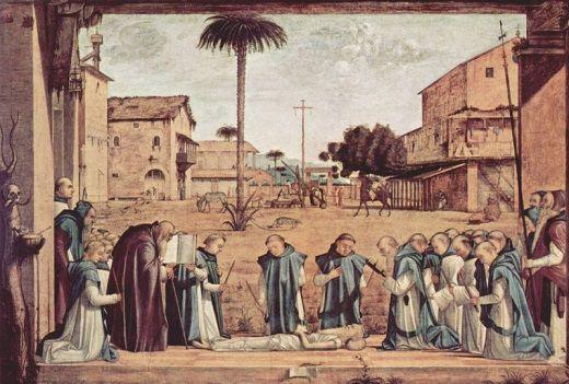 Pogrzeb św. Hieronima. Nie, nie zabili go Rzymianie za doprowadzenie do śmierci Blesylli.