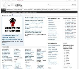 """Wywiad w serwisie """"Historia.org.pl"""""""