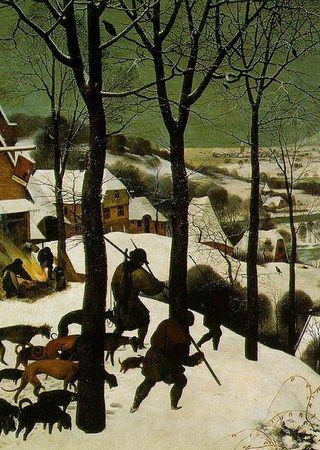 """Mała epoka lodowcowa poważnie dała się we znaki mieszkańcom Europy. Na ilustracji fragment obrazu Pietera Bruegela """"Myśliwi na śniegu""""."""