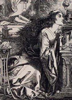 Królowa Longobardów Rozamunda z czaszką swojego ojca.