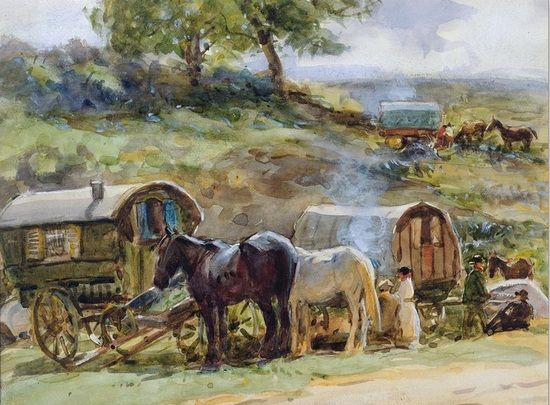 Ciekawe czy konie na tym obrazie również zostały przemalowane?