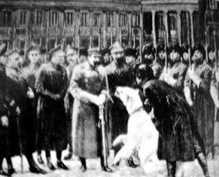 Baśka Murmańska podaje łapę samemu Piłsudskiemu