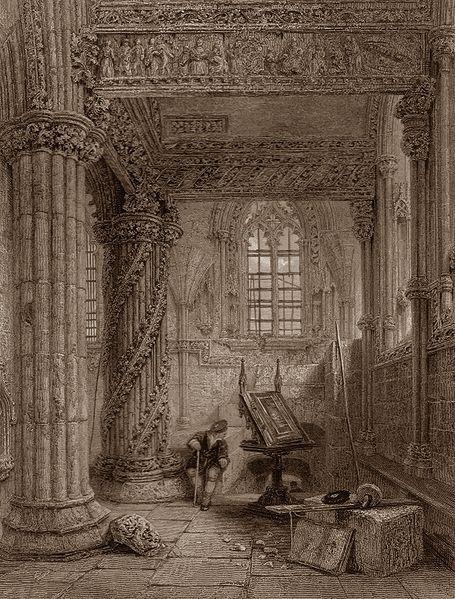 Jeszcze raz Rosslyn Chapel. Tym razem jej wnętrze.