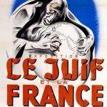 Plakat antysemickiej wystawy w Paryżu.
