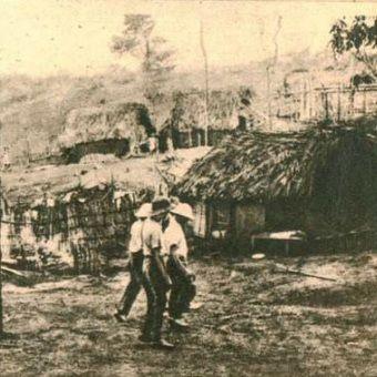 """Polscy plantatorzy w Liberii. Fotografia z miesięcznika """"Morze"""" (nr 11/1936)."""