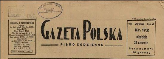 (…) Wiemy co natomiast musi być w Polsce, bo my tak chcemy. Musi być porządek. Musi być powaga i będzie. Obozy koncentracyjne. Tak. Dlaczego? Dlatego, że widać owych osiem lat pracy nad wielkością Polski, osiem lat przykładu i osiem lat osiągnięć, osiem lat krzepnięcia – nie wystarczyło dla wszystkich (…).(Cyt. za: Gazeta Polska, nr 168, 19 VI 1934) .