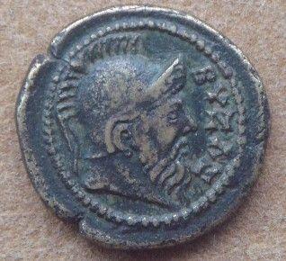 Podobizna Byzasa na monecie z II-III w. n.e. (fot. World Imaging; lic. CC ASA 3,0)