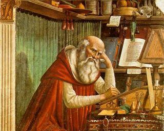 Święty Hieronim obmyśla swój program wychowawczy...