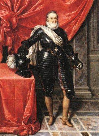 O oto i Henryk IV, którego dosięgła ręka zamachowca.