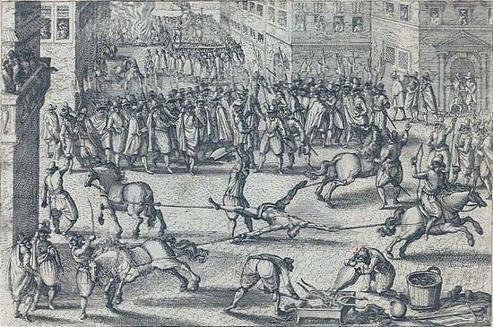 Za swój czyn François Ravaillac poniósł srogą karę, ginąc w strasznych męczarniach.