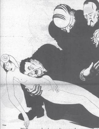 Coco Chanel. Bez małej czarnej, ale z przebiegłymi Żydami nad głową. Ilustracja z wydawanego przez nią magazynu Le Temoin.