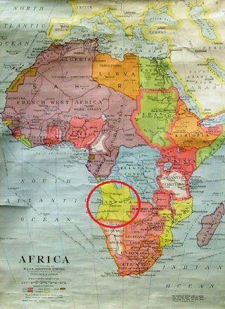 Angola jest o... tutaj. Na mapie z 1930 roku.