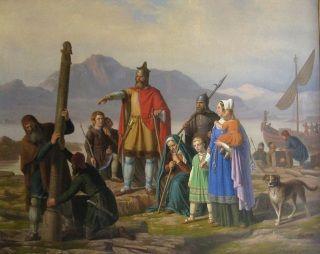 Ingólfr zakłada Reykjaví (obraz XIX-wieczny)