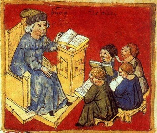 Średniowieczna szkoła nie była przyjemnym miejscem...