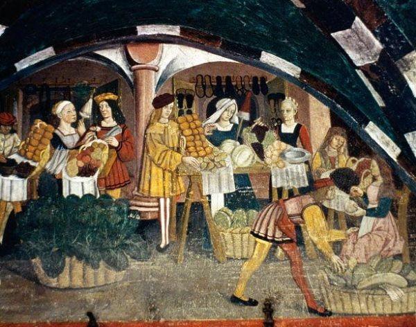 Średniowieczne kobiety na targowisku... W Brugii było ich znacznie więcej!