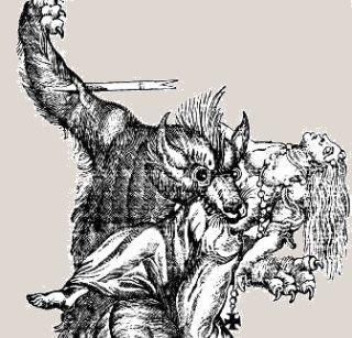 Wilkołak według XVIII-wiecznego wyobrażenia. Czy po Polsce też takie biegały?