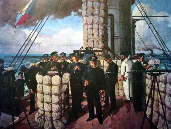 Japończycy w bitwie pod Cuszimą.