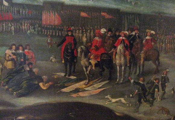 Młody Władysław Waza zdobył sobie sympatię szlachty między innymi dzięki udziałowi we wszystkich możliwych kampaniach zbrojnych. Na ilustracji kapitulacja Moskali.