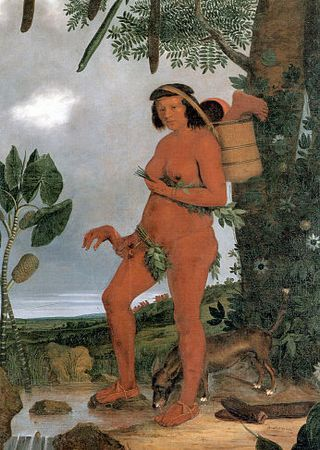 Kobieta-kanibal z Ameryki Południowej. Obraz Alberta Eckhouta.