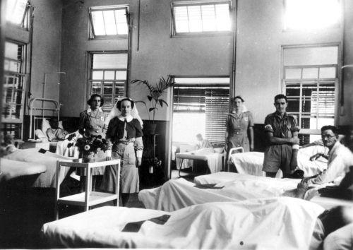 Amerykański szpital wojskowy z okresu II wojny światowej.