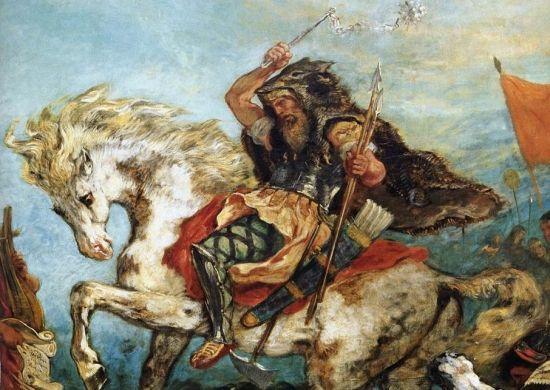 Straszliwy Attyla na obrazie Eugène'a Delacroix.