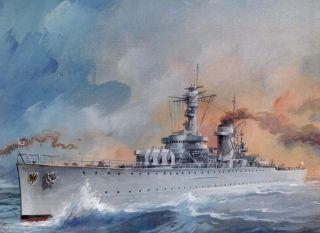 """Pechowy krążownik ciężki """"Deutschland""""."""