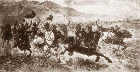 Hunowie pędzący do ataku w północnej Italii...