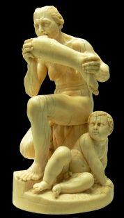 Kolejny smakosz ludziny... rzeźba z XVI wieku.
