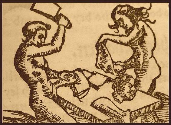 Kanibale na niemieckiej rycinie z XVI wieku.