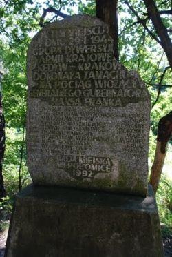 Pomnik upamiętniający nieudany zamach.