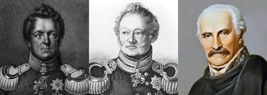 Gneisenau, Müffling i Blücher. Wszystkim trzem marzyło się postawienie Napoleona przed plutonem egzekucyjnym.