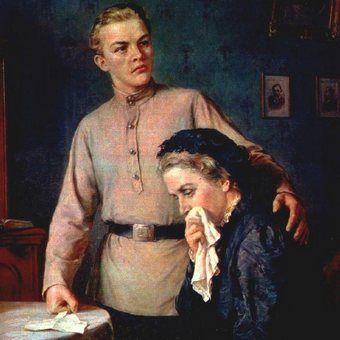 Włodzimierz Iljicz ze swoją niezawodną mamusią