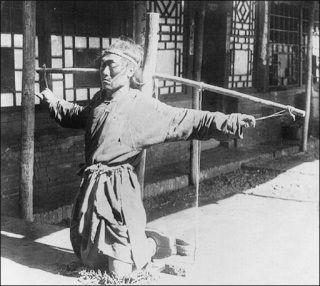 Więźień chińskiego obozu pracy.