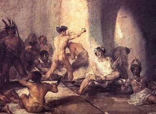 """Francisco Goya """"Casa de locos"""" (po naszemu, jak łatwo się domyślić: dom wariatów)"""