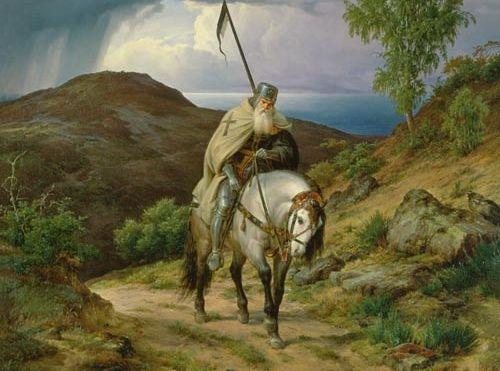 I romantyczny obraz ostatniego krzyżowca... Muzułmanie szybko zapomnieli o takich jak on.