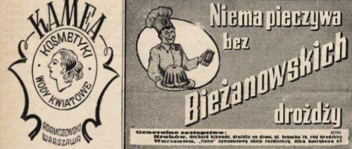 """Kolaboranckie gazety - jak gdyby nigdy nic - reklamowały kosmetyki, produkty spożywcze czy wręcz luksusowe. Wszystko, do czego dostęp mieli co najwyżej volksdeutsche (wycinki z """"Gońca Krakowskiego"""", 5 stycznia 1941)."""