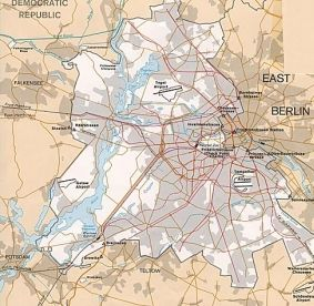 Mapa Berlina Zachodniego