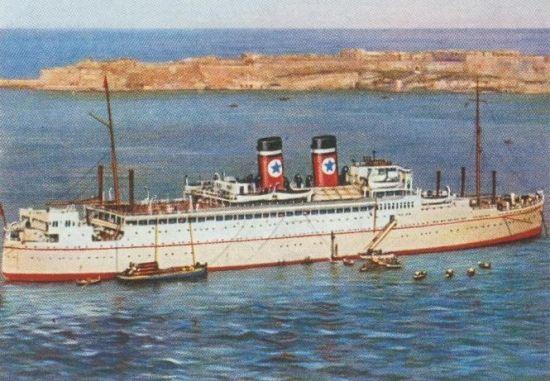 """SS """"Arandora Star"""" pełnej krasie. Taki ładny statek, a tak marnie skończył!"""