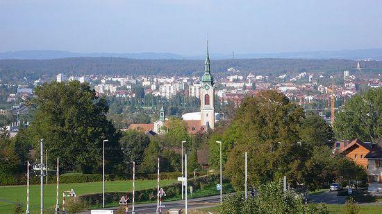 Kreuzlingen, to właśnie tam 7 lutego 1945 r. dotarło 1200 Żydów z Theresienstadt (fot. Pingelig; lic. CC ASA 3.0)