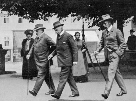 Edward VII na przechadzce w Marienbadzie...