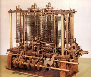 Niewielki fragment maszyny analitycznej. Całość nigdy nie powstała.