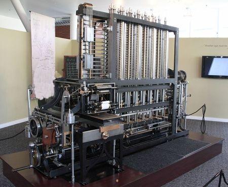 Działający model maszyny różnicowej Babbage'a. Ostateczny plan zakładał znacznie większy rozmach... (fot. Allan J. Cronin; lic. CC ASA 3,0).