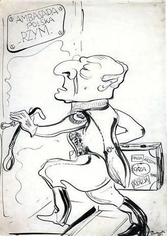 Wieniawa często bywał głównym bohaterem anegdot, a karykaturzyści go uwielbiali. Cóż, w ukształtowaniu wizerunku męża stanu mu to nie pomogło.
