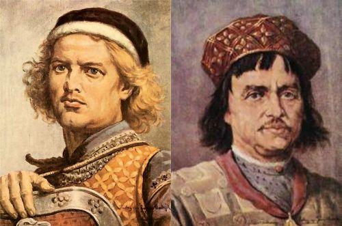 """Leszek Biały i Bolesław Wstydliwy. W rzeczywistości to ten pierwszy """"założył"""" Kraków."""