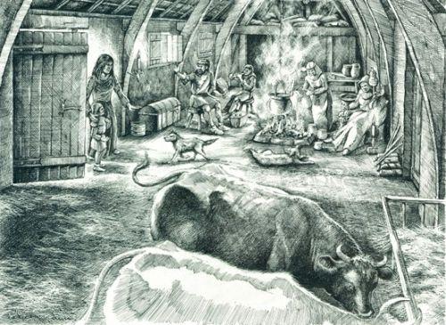 Przy jednym ognisku z krowami i świniami? Do niedawna to była norma...