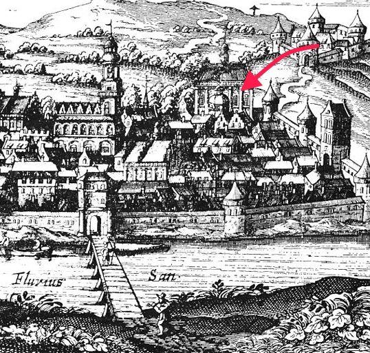 Z zamku do katedry jest rzut beretem, lub jak kto woli... kulą armatnią.