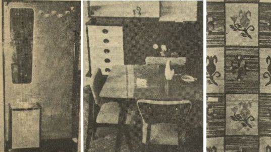 Od lewej komplet z przedpokoju, stoliczek z salonu i wzór supermodnego kilimu za jedyne 2 262 złote..