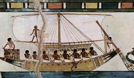 Amenhotep II nie tylko doskonale strzelał z łuku, ale był również świetnym wioślarzem.